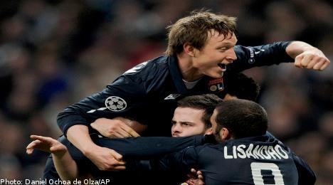 Källström jubilant as Lyon eject Real Madrid
