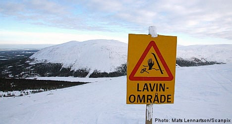 Avalanche warning for northern Sweden skiers