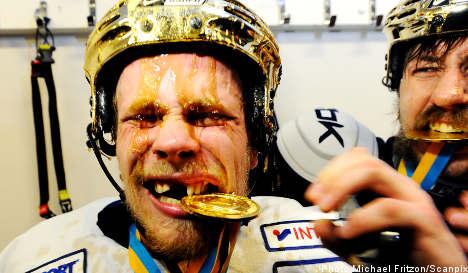 HV71 seal Swedish ice hockey final win