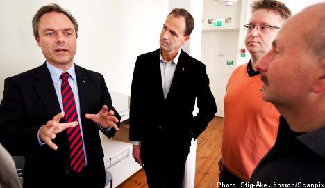 Liberal leader meets embattled Malmö Jews