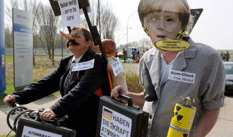 Thousands gather to protest nuclear power plant extension