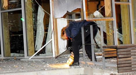 Dynamite blast at Malmö research centre