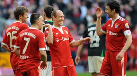 Bayern's 'cissies' deliver 7-0 victory