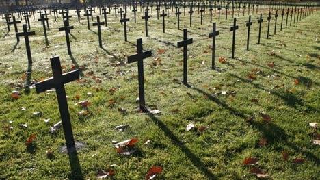 German war graves desecrated in France