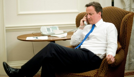 Merkel congratulates new British Prime Minister Cameron