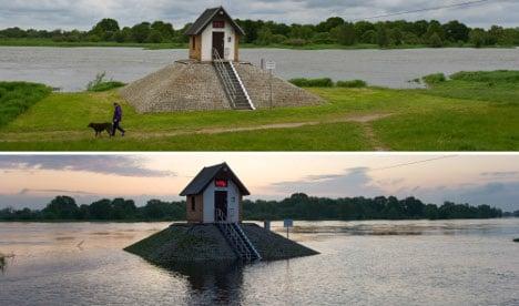 High water reaches Brandenburg early