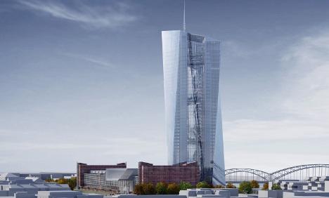 ECB lays cornerstone for new Frankfurt headquarters