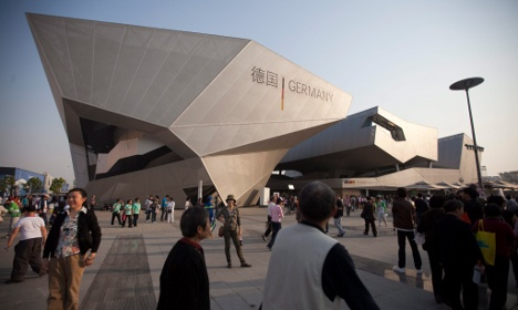 Chinese hurl 'Nazi' epithets at German Expo pavilion in Shanghai