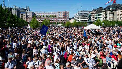 Thousands descend on Stockholm for annual Jesus fest