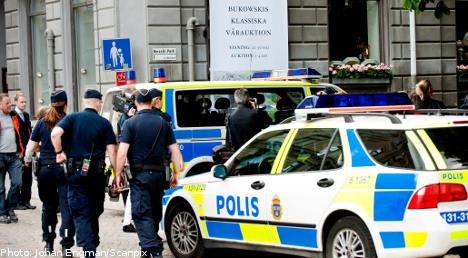 Armed men hit Stockholm auctioneers