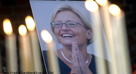 Anna Lindh memorial inaugurated in Stockholm