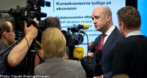 Reinfeldt warns of opposition tax hikes