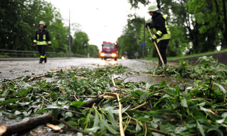 Bavaria reports heavy damage after overnight storm
