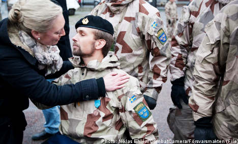 Wounded Swedish soldiers in benefits battle