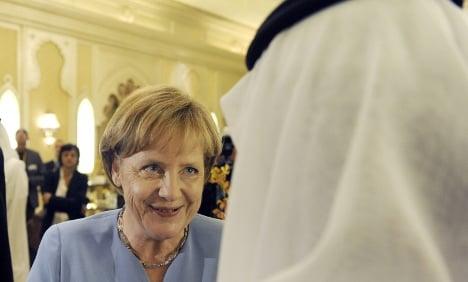 Merkel begins Gulf tour in Abu Dhabi
