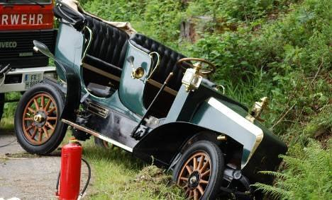 Professor dead after vintage electric car crash