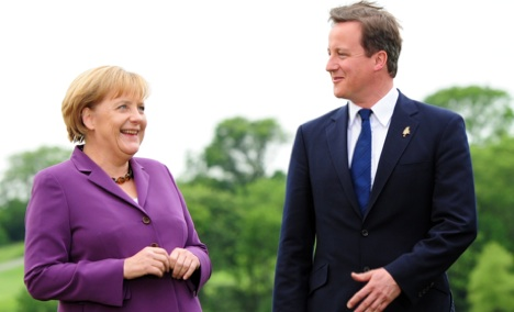 Merkel and Cameron to watch big match together