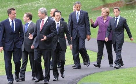Merkel claims harmony at G8 summit