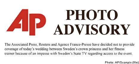SVT hits back over news agency wedding boycott