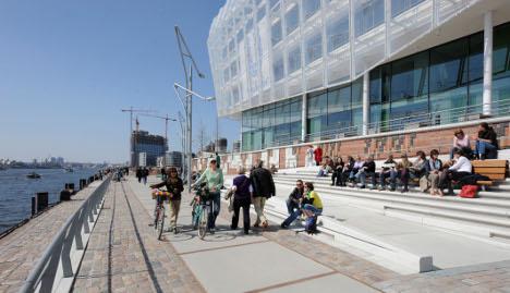 Harbouring architecture in Hamburg