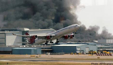 Heathrow fire has 'no effect' on Sweden flights