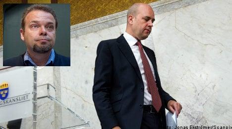 Littorin affair hits voter confidence in Reinfeldt