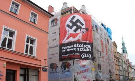 Swastika art triggers outcry in Poland