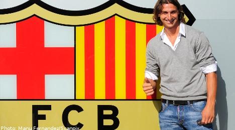 Agent: Ibrahimovic is staying at Barcelona