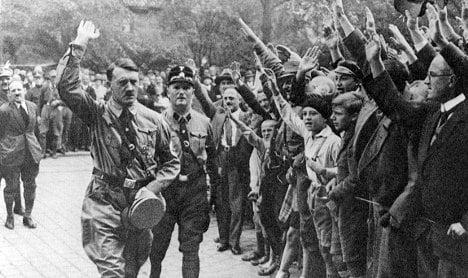 Drunk, homeless man convicted for 'Hitler salute'