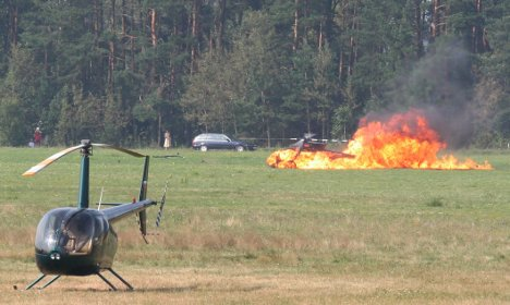 German helicopter pilot killed in stunt performance