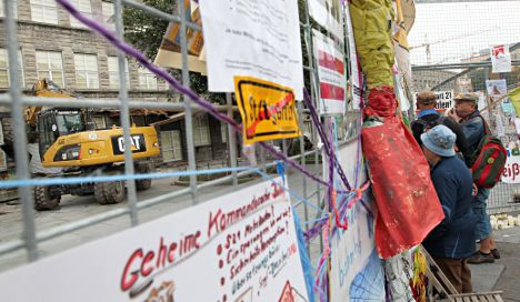Controversial demolition of Stuttgart train station begins