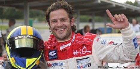 Prince Carl Philip claims first racing win