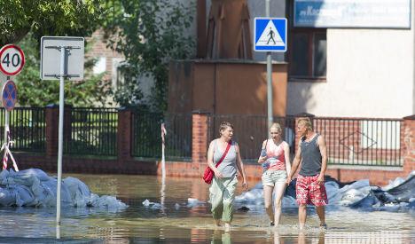 Floodwaters recede but Brandenburg still on alert