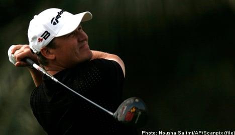 Sweden's Sandelin leads at golf's Vivendi Cup