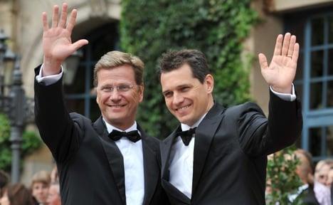 Westerwelle 'marries' partner Michael Mronz
