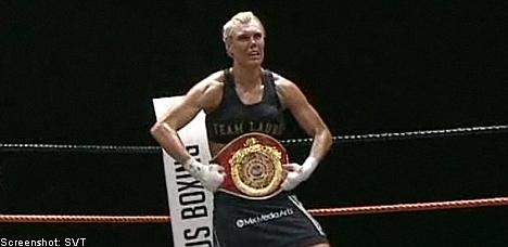 Swedish boxer wins women's world title