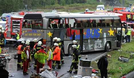 12 killed, more injured in motorway bus crash