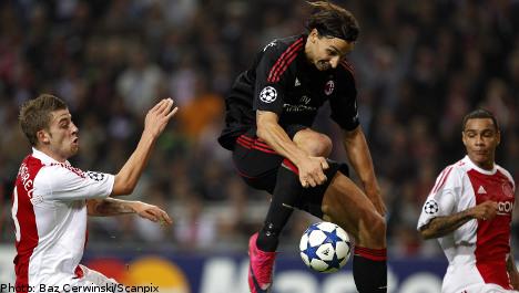 Ibrahimovic breaks Ajax goal jinx