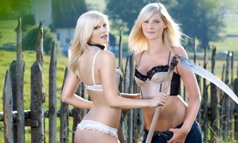 German farm girls calendar offers rustic erotica