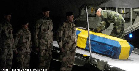 Dead soldier returns home to Sweden