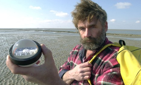 Barefoot through Germany's tidal flats with a mailbag