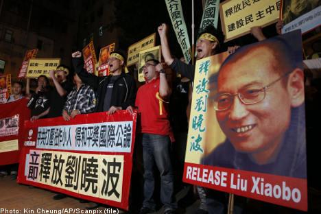 Swedish papers praise Peace Prize winner Liu