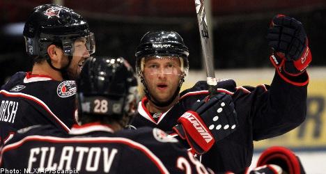 Sharks top Jackets in Stockholm NHL opener