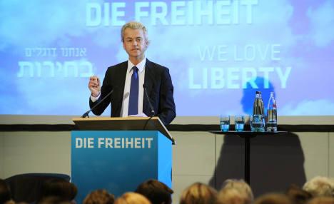 Dutch politician Wilders draws protests in Berlin