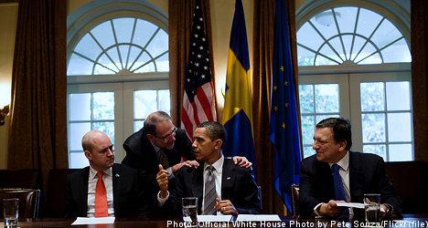 Obama congratulates Reinfeldt on re-election