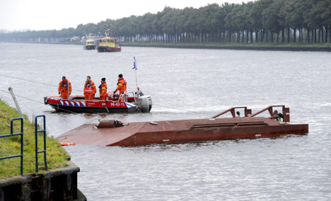 German freighter rams Dutch ferry