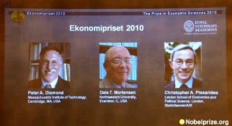 Three share Nobel Prize in economics