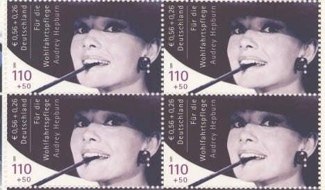 Banned Audrey Hepburn stamps sold for €430,000