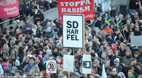 Thousands demonstrate against racism