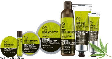 Body Shop hemp ad falls foul of Swedish authority
